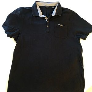 Ted Baker black collared polo size 7 shirt